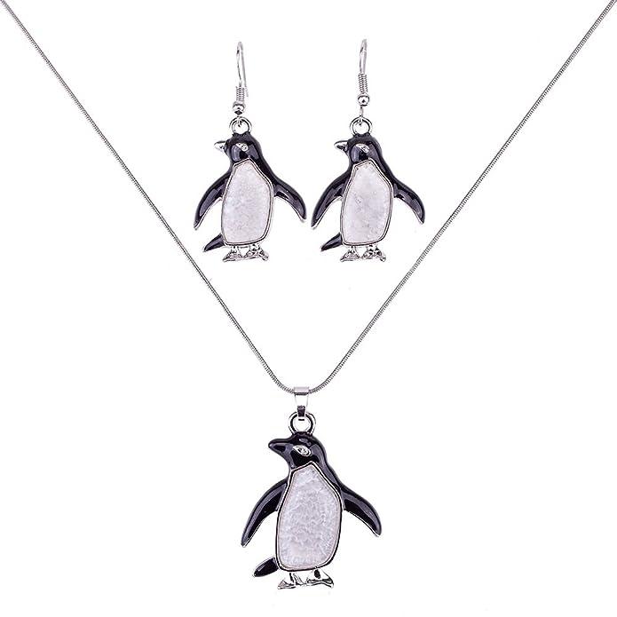 Amazon.com: liavy del pingüino Encanto Colgante De Moda ...