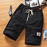 FarJing Big Promotion Mens Beach Pants Sports Breathable Fashion Pants Summer Fitness Running Pants (4XL,Black