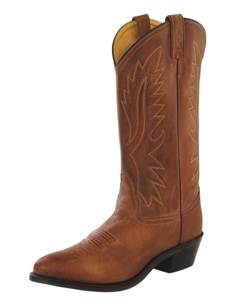 Old West Tan Canyon Mens Polanil Leather Round Toe 13in Cowboy Boots 11 D