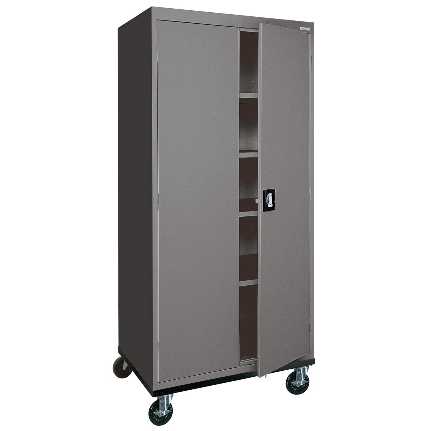 Sandusky Lee TA4R362472-02 Transport Series Mobile Storage Cabinet, Charcoal
