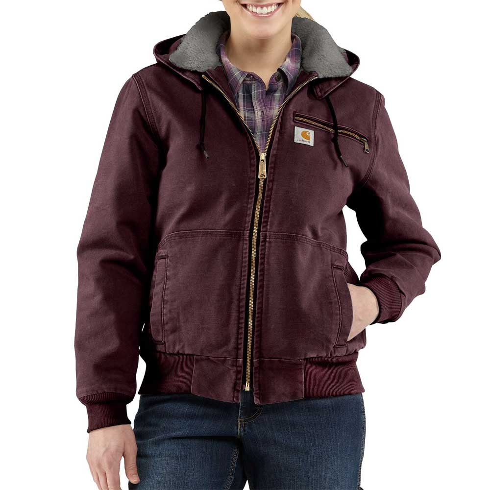 Carhartt Women's Weathered Duck Wildwood Jacket, Deep Wine, XXL