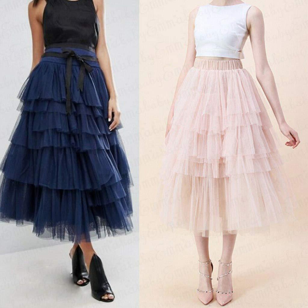 Qijinlook 💖Falda Tul Mujer/Faldas largas💖, ¡Caliente! Falda de ...