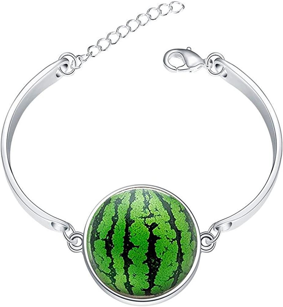 DOME-SPACE Adjustable Silver Bracelets Beginning White Lotus Art Hand Chain Link Bracelet Clear Bangle Custom Glass Cabochon Charm