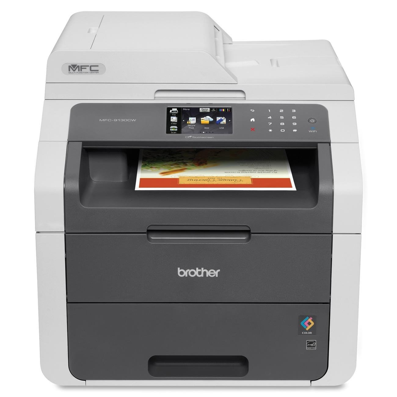 Amazon.com: Brother MFC9130CW Wireless All-In-One Printer with Scanner,  Copier and Fax, Amazon Dash Replenishment Enabled: Electronics