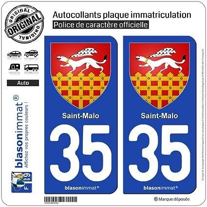 Blasonimmat - 2 Pegatinas para matrícula con número 35400 y escudo de armas de Île-de-France: Amazon.es: Coche y moto