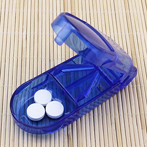 Polytree Travel Pill Box Storage Pill Cutter Splitter Medicine Tablet Holder