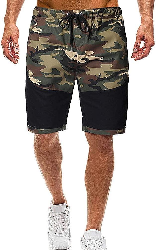 Tomwell Hombre Bermuda Pantal/ón Corto Moda Camuflaje El/ástico Regular-Fit Deporte Shorts