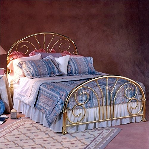 Hillsdale Furniture 1069BFR Jackson Bed Set with Rails, Full, Classic Brass Plate