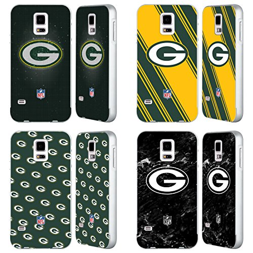 Official NFL 2017/18 Green Bay Packers Silver Aluminum Bumper Slider Case for Samsung Galaxy S5 / S5 Neo from Head Case Designs