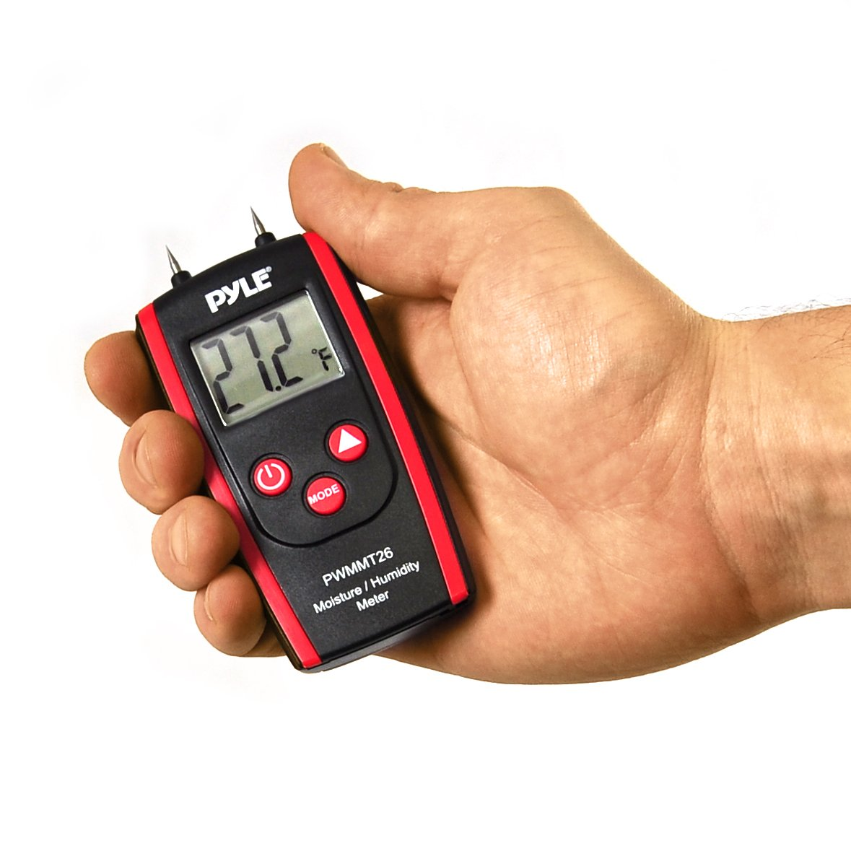 Pyle PWMMT26 Digital LCD Display Wood Moisture Meter for Wood, Cement and Mortar
