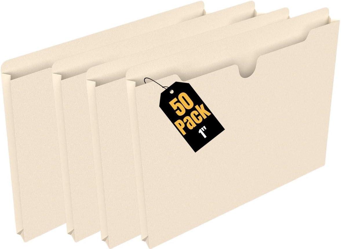 1 Expansion 7530-01-632-1013 AbilityOne SKILCRAFT Manila File Jackets Letter Size