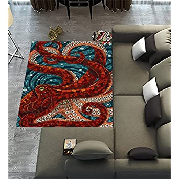 Amazon Com Custom Ocean Octopus Area Rugs Carpet Ocean