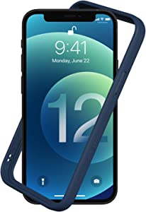 RhinoShield Bumper Case Compatible with [iPhone 12 Mini] | CrashGuard NX - Shock Absorbent Slim Design Protective Cover 3.5M / 11ft Drop Protection - Navy Blue