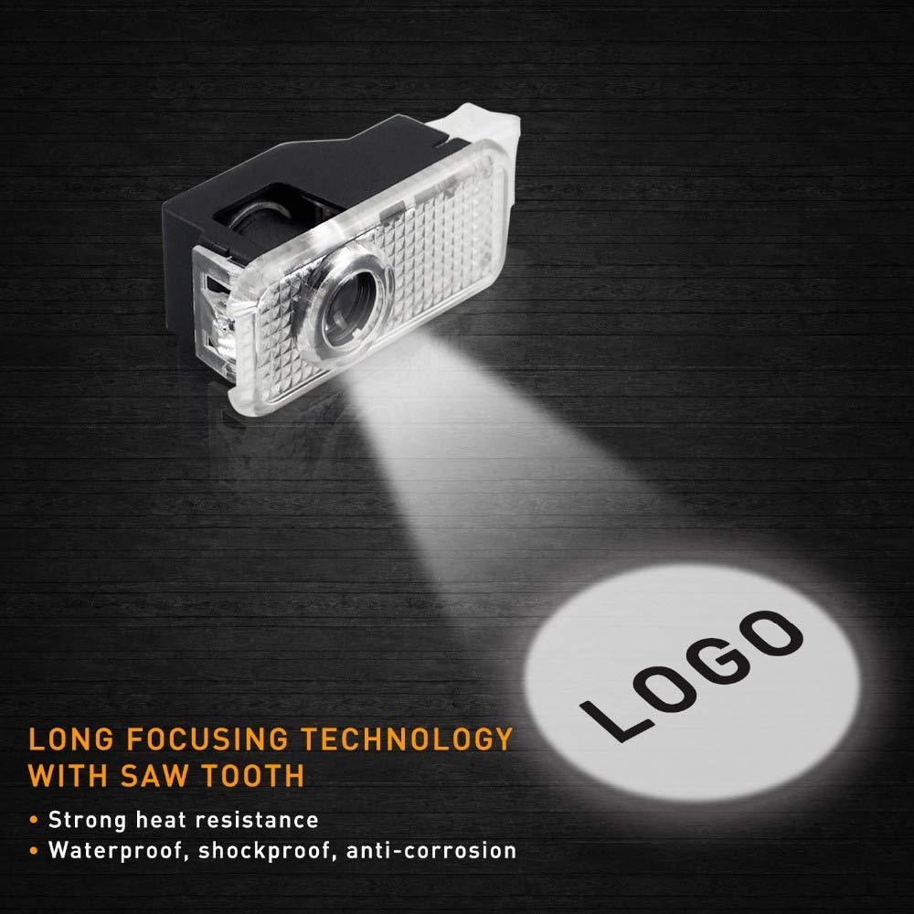Car Shadow Light 3D Logo Porte LED Ghost Shadow Light Logo Projecteur Lumi/ères De Courtoisie Auto R/étro/éclairage Car Styling Welcome Lamp C
