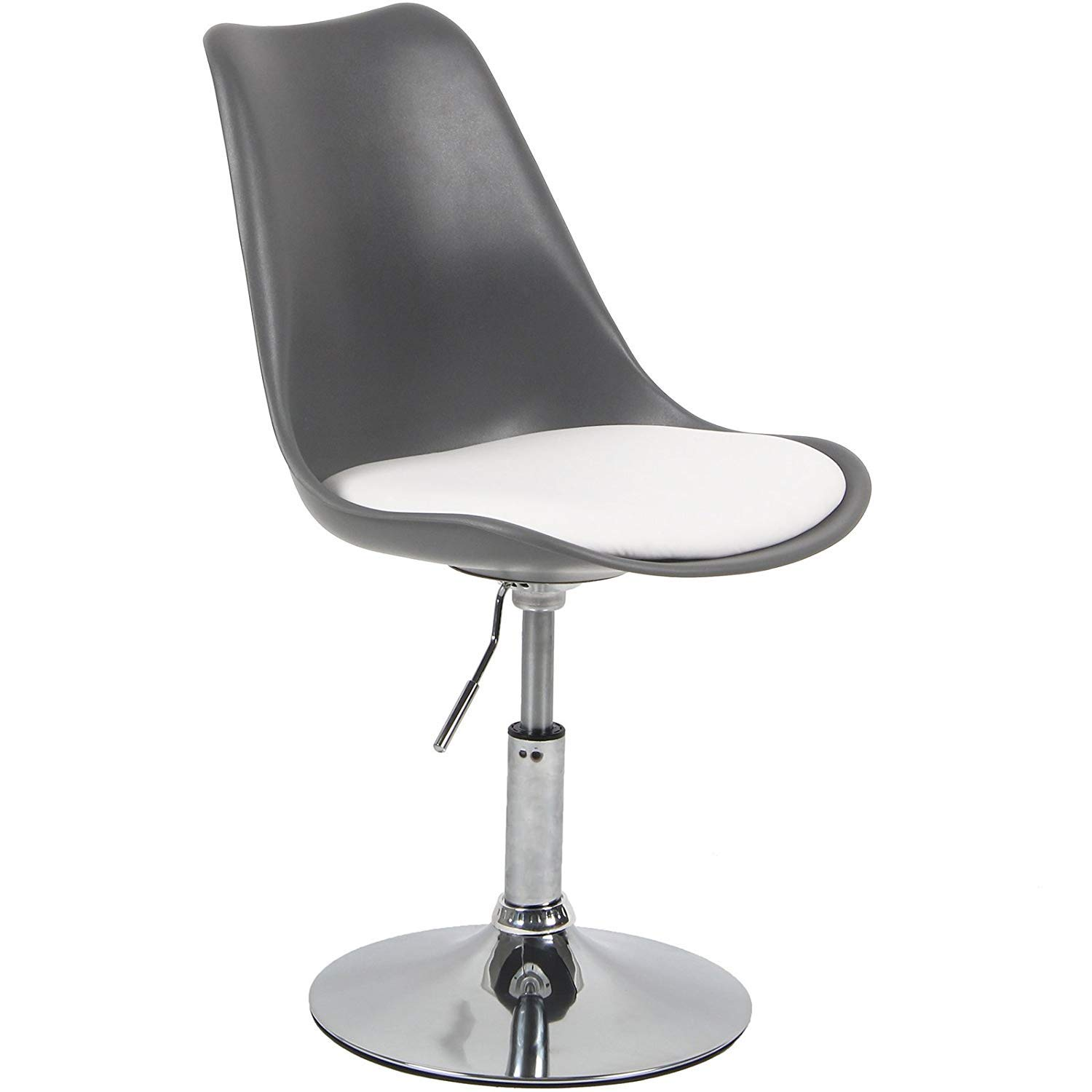 Charles Jacobs Adjustable Tulip Chair With Static Base Grey Seat