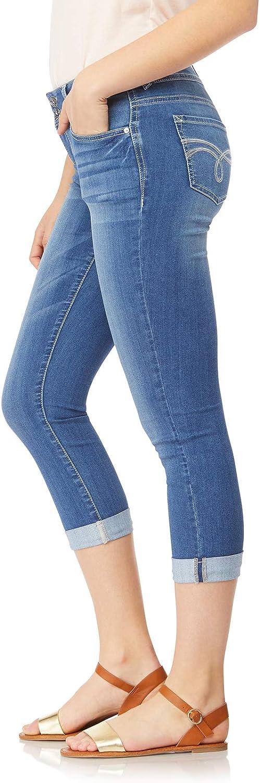 WallFlower Womens Juniors Plus-Size InstaSoft Ultra Fit Skinny Stretch Crop Jeans