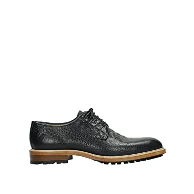 308771b98f Wolky Comfort Lace up Shoes Turin - 90000 Black Croco Leather - 42.5