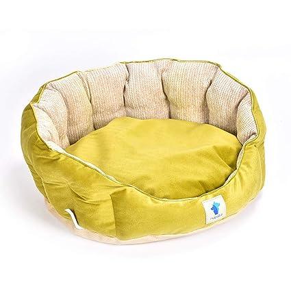 KYCD Cama Suave y cálida para Perros, Suave y Redondo Gato Interior Cama Casa Gato