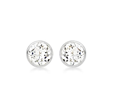 Carissima Gold Women's 9 ct Yellow Gold 3 mm Round Cubic Zirconia Stud Earrings iKD9fN1g