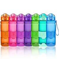 Sport Trinkflasche BPA frei Auslaufsicher Wasserflasche 400ml/500ml/700ml/1L Kunststoff Geeignet Sporttrinkflaschen für Joggen, Yoga, Fahrrad, Kinder Schule,öffnen mit einer Hand Trinkflaschen Filter