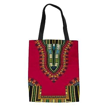 ZXXFR Las Mujeres Africanas Bolso Messenger Impresión Bolsas De Lona Grandes Viajes Verano Playa Tote Bolso