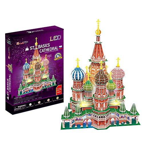 3D Puzzle Saint-Basile cathédrale de Moscou LED St. Basils Cathedral LED Moskau Basilius Kathedrale Licht Light