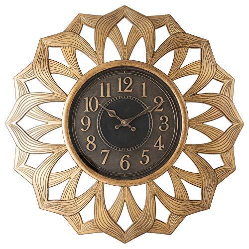 Pacific Bay Alsfeld Large Decorative Light-Weight Non-Metallic 20-inch Wall Clock Silent, Non-Ticking, 3-D Aluminum Dial…
