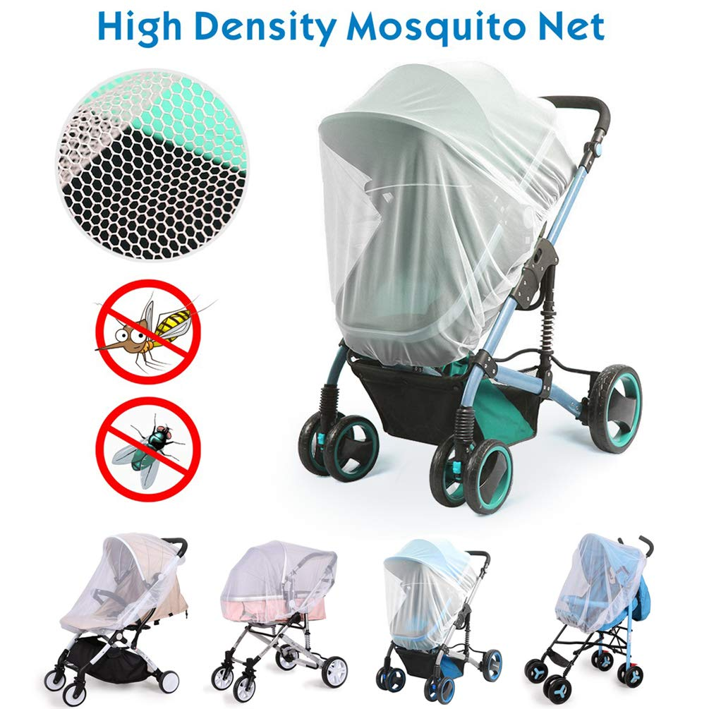 Universal Baby Stroller Rain Cover + Mosquito Net,Idefair Weather Shield Accessories,Protect from Rain Wind Snow Dust Insects Water Proof Ventilate Clear-Breathable Bug Shield for Baby Stroller by Idefair (Image #3)