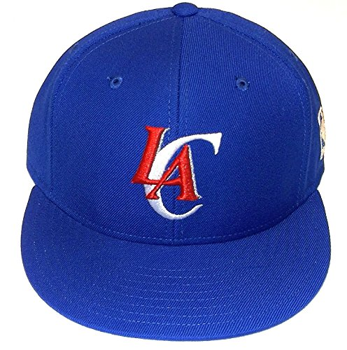 NBA adidas Los Angeles Clippers Team Preferred Flat Brim Fitted Hat - Royal Blue (6 7/8) (Flat Angeles Clippers Los)