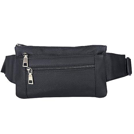 b24fc98aaebd Genuine Leather Belt Men   Women Fanny Pack Travel Passport Bum Hip Bag  Unisex Cross Body