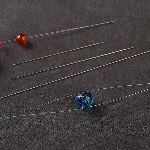 HEALLILY Agujas de abalorios agujas de coser de hilo de ojos plegables para joyer/ía diy haciendo pulsera collar 10pcs