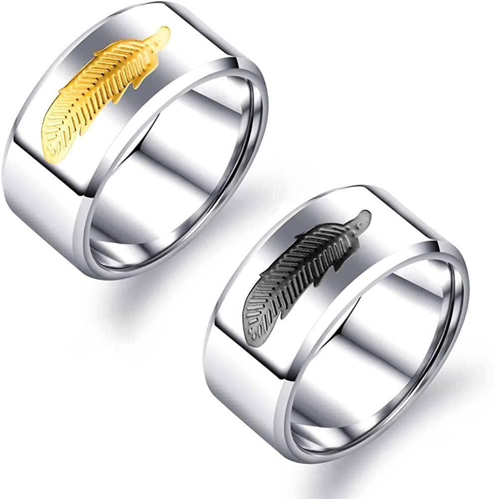 Mens 10MM Wide Wedding Bands Titanium Steel High Finish His Promise Rings Beveled Polished Edge Comfort Fit