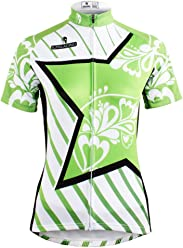 LAOYOU Green Star Womens Cycling Jersey Bike Clothes Bike Jersey Bike  Apparel Bicycle Clothing Cycling Apparel 9436ed3a2