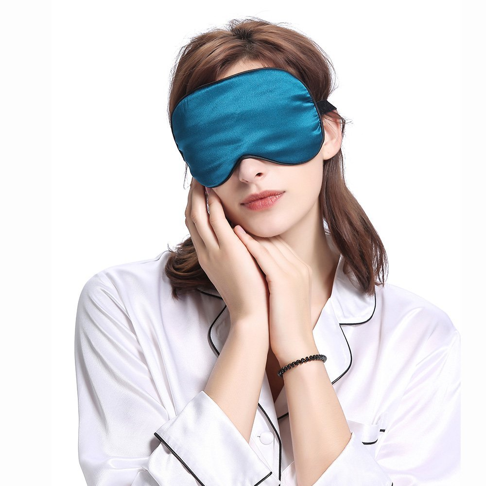 LILYSILK Antifaz para Dormir con Ribete 100% Seda Natural - Máscara del Sueño de Seda - Suave, Ligero, Transpirable, Anti-luz y Anti-arruguas, ...