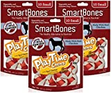 (3 Pack) SmartBones PlayTime Small Chicken Chew Treats for Dogs – 10 Bones per Pack Review