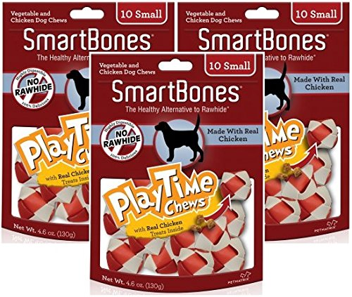 Cheap (3 Pack) SmartBones PlayTime Small Chicken Chew Treats for Dogs – 10 Bones per Pack