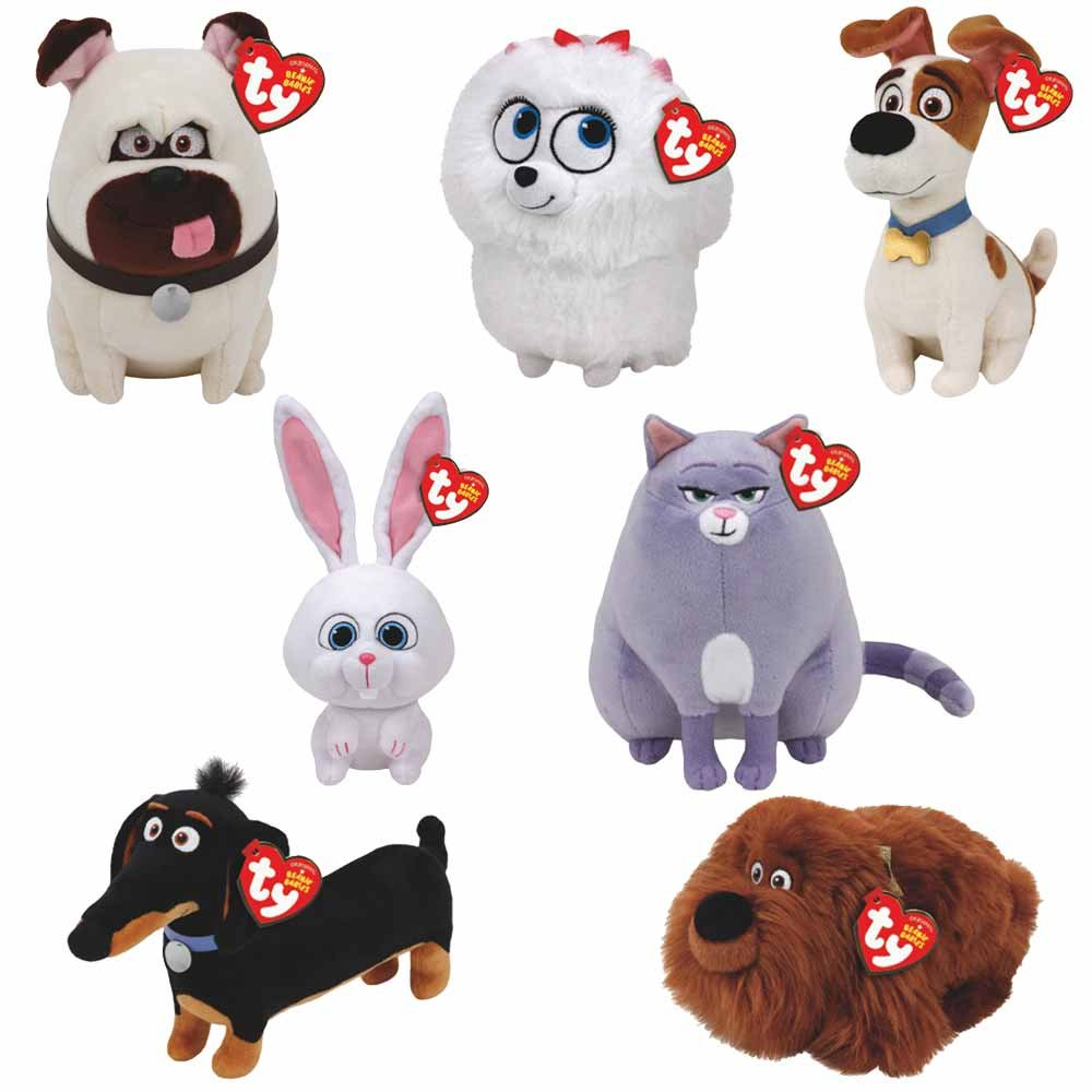 TY Beanie Babies Plush - Secret Life of Pets Movie Soft Toys (Complete set of 7) by TY Beanie Babies: Amazon.es: Juguetes y juegos
