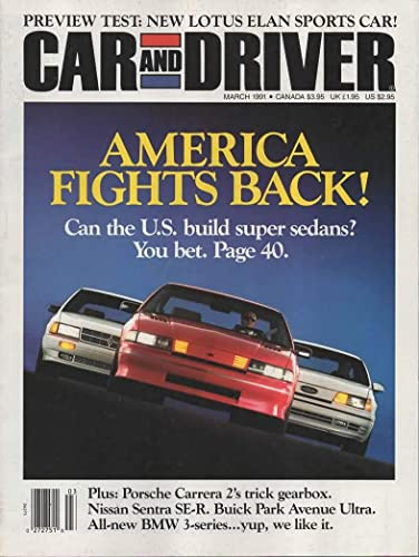 Car and Driver Magazine, March 1991 (Vol 36, No. 9) at Amazons Entertainment Collectibles Store