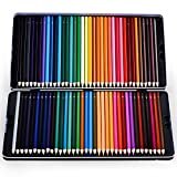 Colored Pencil Set, Patec 72 Premium Pre-Sharpened Colored Pencils Set for Drawing, Sketching, Artwork and Adult Coloring Books