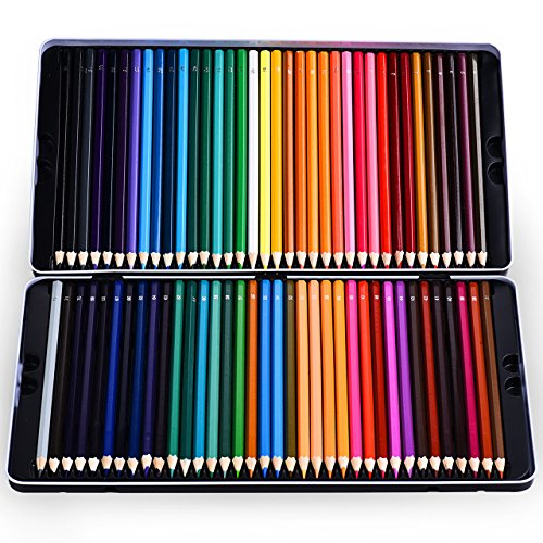 Colored Pencils, Atmoko Color Pencils Set with 72 Colored Pensils, Easy to Sharpen, [Hard to Break], Colored Pensils Bulk for Kids and Adults, Assorted Colors