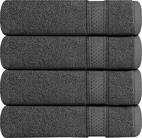 Utopia Towels 700 GSM 4 Pack Premium Bath Towels - Towel Set - (27 x 54 inches) - 100% Ring-Spun Cotton Towels (Grey)