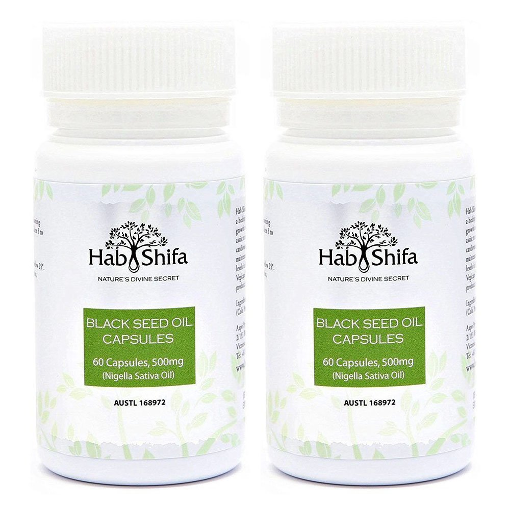Pure Cold Pressed Black Seed Oil Capsules – Nigella Sativa Black Cumin Seeds Oil - 60 Count, 2 Pack