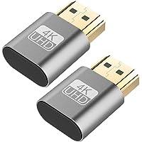 VGA Virtual Display Adapter 2Pcs 4K HDMI DDC EDID Dummy Plug Emulator Connector