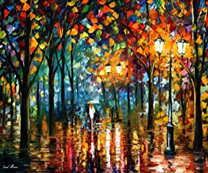 "Magic Park - Leonid Afremov Mixed Media/giclee 36""x30"" Comes Stretched!"
