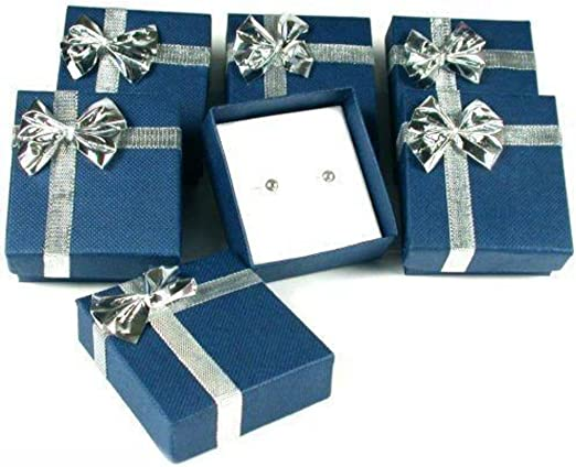 Amazon Com Findingking 6 Earring Boxes Bowtie Gift Wrap Jewelry