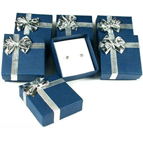 6 Earring Boxes Bowtie Gift Wrap Jewelry Displays Amazon Ca Home