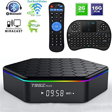 Android TV Box T95Z Plus Android 7 1 2 TV Box 2G+16G Amlogic S912  Octa-Core, 2 4/5 8G Dual-Band Wi-Fi/10-1000M LAN 64Bit BT4 0 H 265 UHD 4K  Android