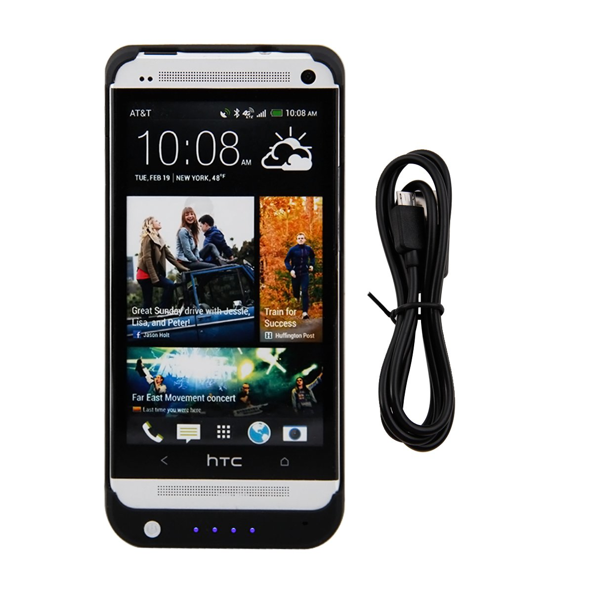 official photos 79738 e38c1 Galleon - HTC One M7 External Battery Charger Case 4200mAh ...