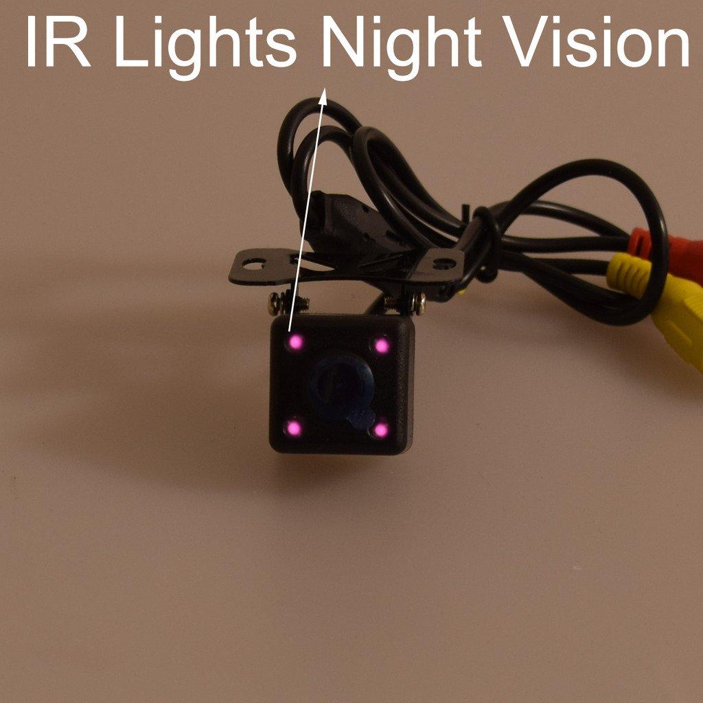 Coche HD Universal Reserva C/ámara LED Nocturna Visi/ón : NTSC // PAL y Frente Vista control de un bot/ón Reflejada y Estacionamiento l/íneas // no Estacionamiento l/íneas interruptor - no Reflejada // Visi/ón Inversa