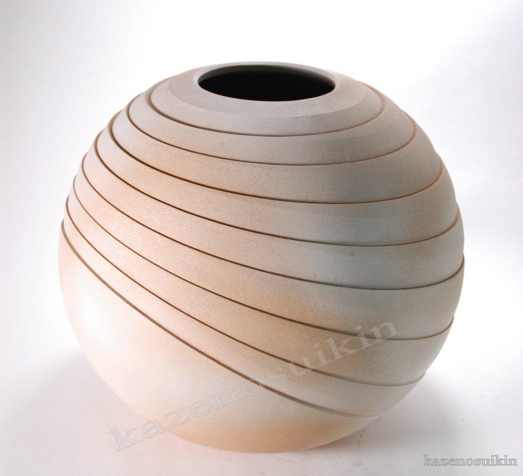 線入り丸花瓶 13号 (信楽焼花瓶花入れ花器壺壷水盤フラワーポットフラワーベースZ) B01LD7HTDY